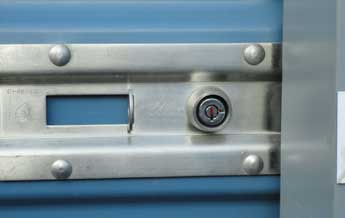 closeup of lock - the most secure self storage in Yakima Washington